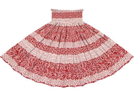 赤のパウスカート フラワーレイ・ボーダー柄 spau-2812RD