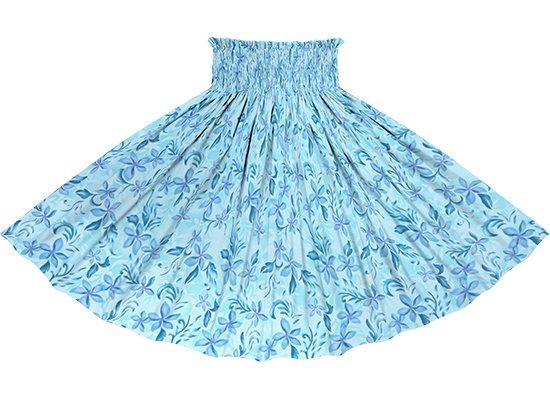 水色のパウスカート プルメリア柄 spau-2819AQ