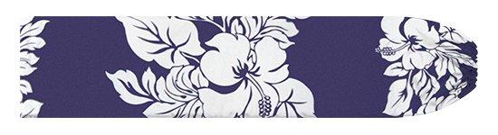 青のパウスカートケース ハイビスカス・ボーダー柄 pcase-2826BLWH 【メール便可】★オーダーメイド