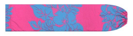 ピンクと水色のパウスカートケース ハイビスカス・ボーダー柄 pcase-2826PiAQ 【メール便可】★オーダーメイド