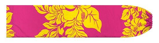 ピンクと黄色のパウスカートケース ハイビスカス・ボーダー柄 pcase-2826PiYW 【メール便可】★オーダーメイド