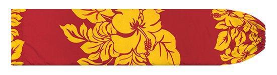 赤のパウスカートケース ハイビスカス・ボーダー柄 pcase-2826RDYW 【メール便可】★オーダーメイド