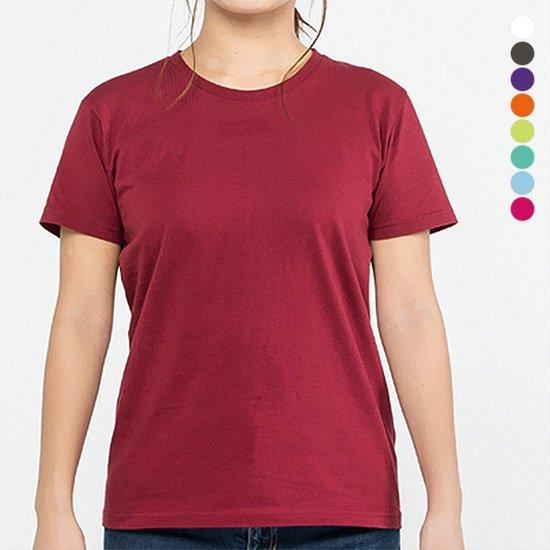 無地半袖Tシャツ 色が選べる ガールズサイズ レディース 5.0オンス tsht-0086-f 【2枚までメール便可】