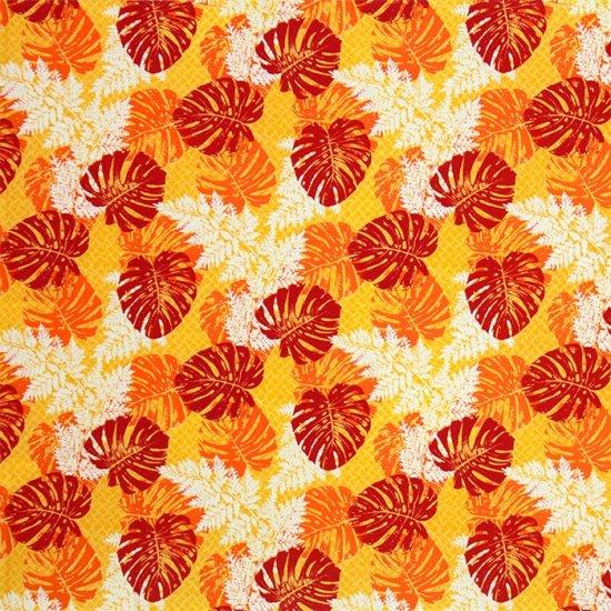 【カット生地】(3ヤード) 黄色のハワイアンファブリック モンステラ・パラパライ柄 fab-3y-2646YW 【4yまでメール便可】