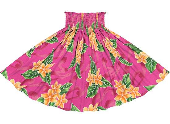 ピンクのパウスカート プルメリア柄 spau-rm-2809Pi 75cm 4本ゴム 【既製品】