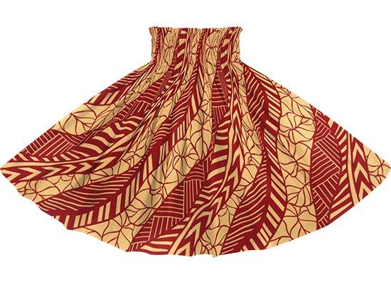 赤のパウスカート タロ柄 spau-rm-2810RD 75cm 4本ゴム 【既製品】
