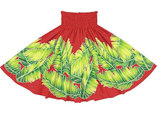赤のパウスカート バナナリーフ柄 spau-rm-2814RD 75cm 4本ゴム 【既製品】