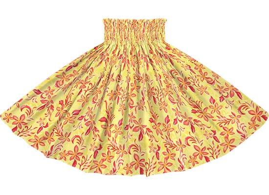 黄色のパウスカート プルメリア柄 spau-rm-2819YW 75cm 4本ゴム 【既製品】