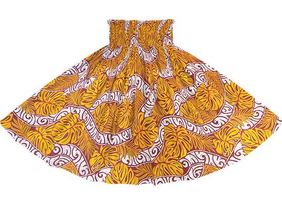 オレンジのパウスカート モンステラ・カヒコ柄 spau-rm-2823OR 75cm 4本ゴム 【既製品】
