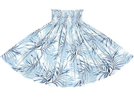 青のパウスカート ヤシ柄 spau-rm-2828BL 75cm 4本ゴム 【既製品】
