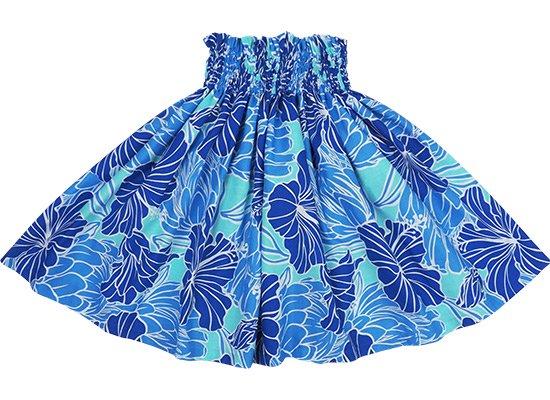 【ケイキ(子供)用】 青のパウスカート ハイビスカス・プロテア柄 kpau-rm-2721BL 60cm 4本ゴム 【既製品】