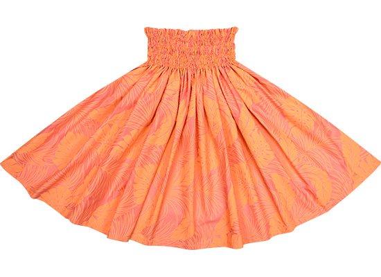 【限定色】コーラルオレンジのパウスカート モンステラ総柄 spau-rm-2022COR 60cm 4本ゴム 【既製品】