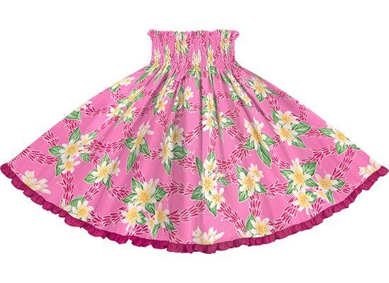 【リヒリヒパウスカート】 ピンクのティアレ・チューベローズ柄 ラズベリーの無地 lhpau-2827Pi