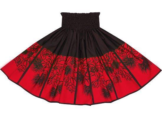 【蔵出し】 こげ茶色(黒に近い茶色)のパウスカート レフア柄 spau-2555BR