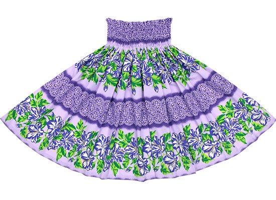 【蔵出し】 紫のパウスカート ハイビスカス・ボーダー柄 spau-2643PP