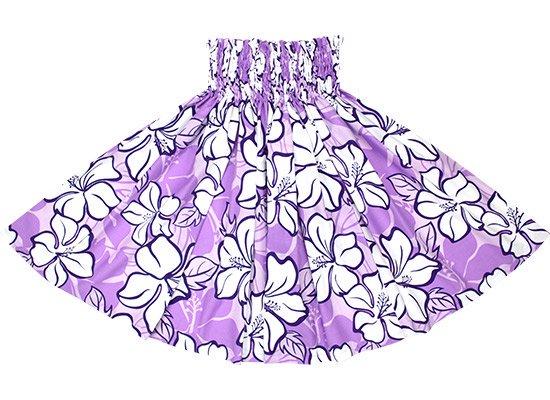 【蔵出し】 紫のパウスカート ハイビスカス柄 spau-2688PP