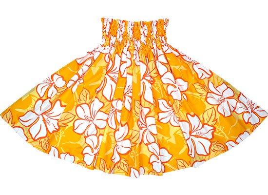 【蔵出し】 黄色のパウスカート ハイビスカス柄 spau-2688YW