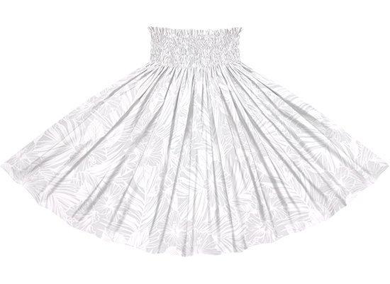 【蔵出し】 白のパウスカート ハイビスカス・ヤシ柄 spau-2788WHWH