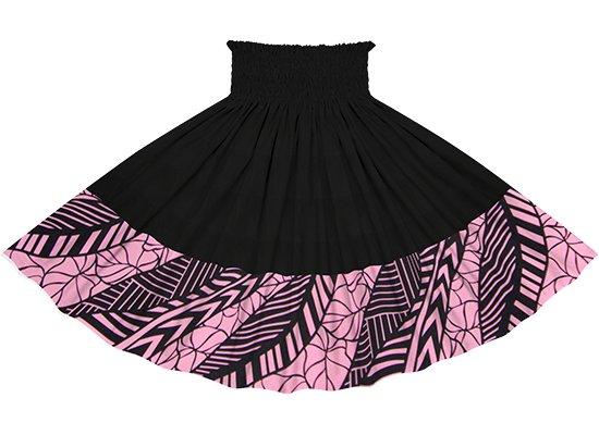 【ポエポエパウスカート】 ピンクのタロ柄 ブラックの無地 pppauL-2810Pi