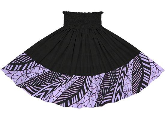 【ポエポエパウスカート】 紫のタロ柄 ブラックの無地 pppauL-2810PP