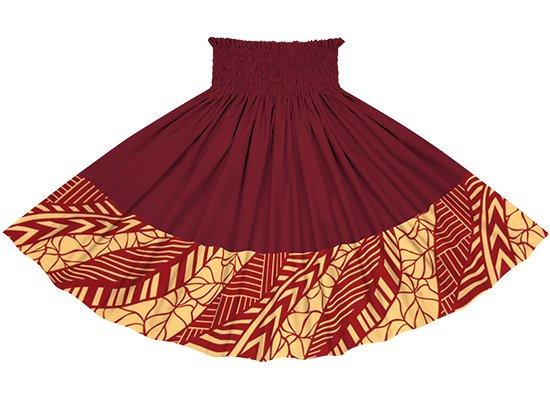 【ポエポエパウスカート】 赤のタロ柄 ガーネットの無地 pppauL-2810RD