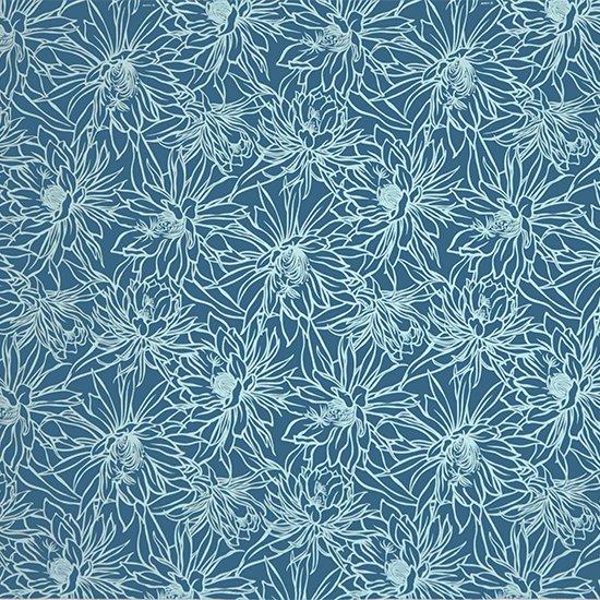 【カット生地】(2ヤード) 青のハワイアンファブリック ナイトブルーミングセレウス柄 fab-2y-2577BL 【4yまでメール便可】