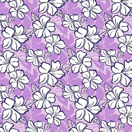 【カット生地】(2.5ヤード) 紫のハワイアンファブリック ハイビスカス柄 fab-2.5y-2688PP 【4yまでメール便可】