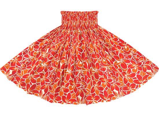【蔵出し】 赤のパウスカート プルメリア総柄 spau-2817RD