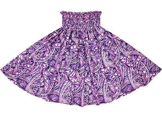 【蔵出し】 紫のパウスカート タパ・トライバル柄 spau-2702PP