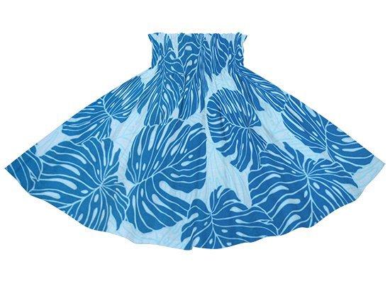 【ケイキ(子供)用】 青のパウスカート モンステラ柄 kpau-rm-2718BL 55cm 3本ゴム 【既製品】