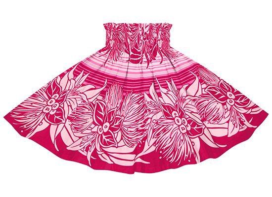 【ケイキ(子供)用】 ピンクのパウスカート レフア・リリー・ボーダー柄 kpau-rm-2713Pi 58cm 3本ゴム 4ヤード【既製品】