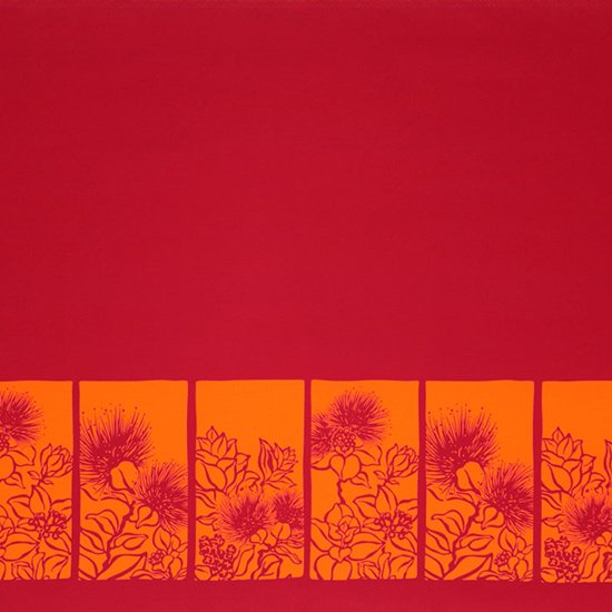 【カット生地】(1.5ヤード) ピンクのハワイアンファブリック レフア柄fab-1.5y-2525Pi【4yまでメール便可】