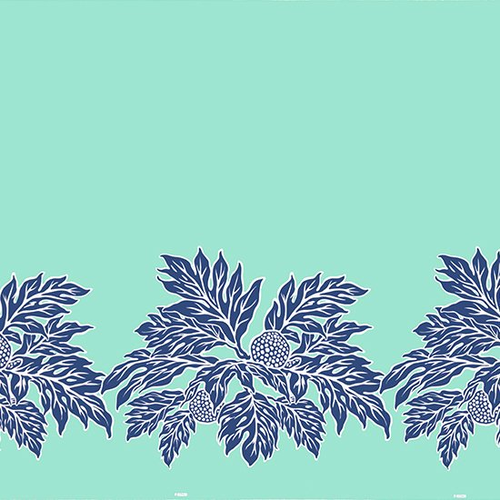 【カット生地】(1.5ヤード) 水色のハワイアンファブリック ウル柄 fab -1.5y-2625AQ【4yまでメール便可】