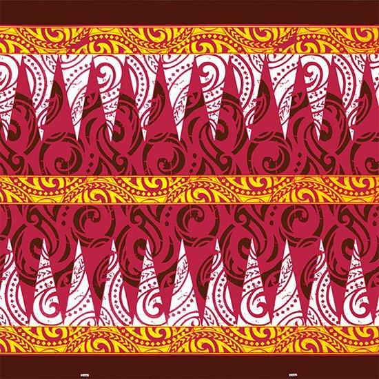 【カット生地】(1.5ヤード) ピンクのハワイアンファブリック トライバル・カヒコ柄 fab-1.5y-2649Pi【4yまでメール便可】