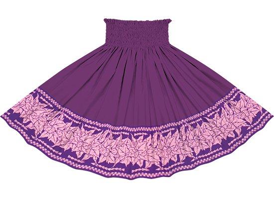 【蔵出し】【ポエポエパウスカート】 紫のククイ・カヒコ柄とブライトパープルの無地 pppau-l-2758PP