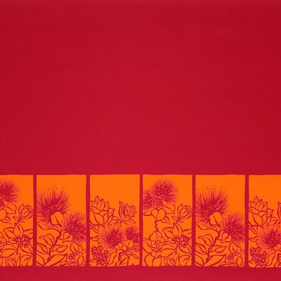【カット生地】(3ヤード)ピンクのハワイアンファブリック レフア柄 fab-3y-2525Pi【4yまでメール便可】