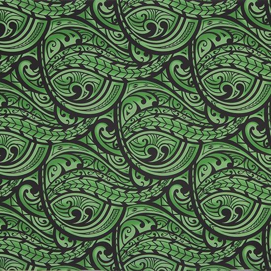 緑のハワイアンファブリック カヒコ・グラデーション柄 fab-2830GN 【4yまでメール便可】