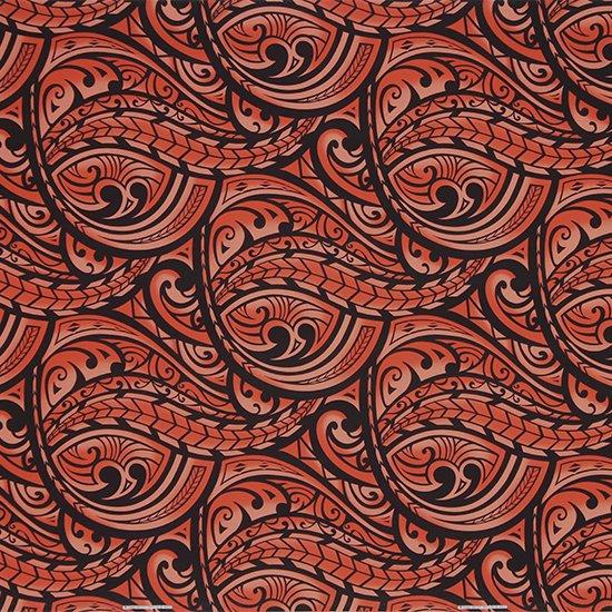 赤のハワイアンファブリック カヒコ・グラデーション柄 fab-2830RD 【4yまでメール便可】