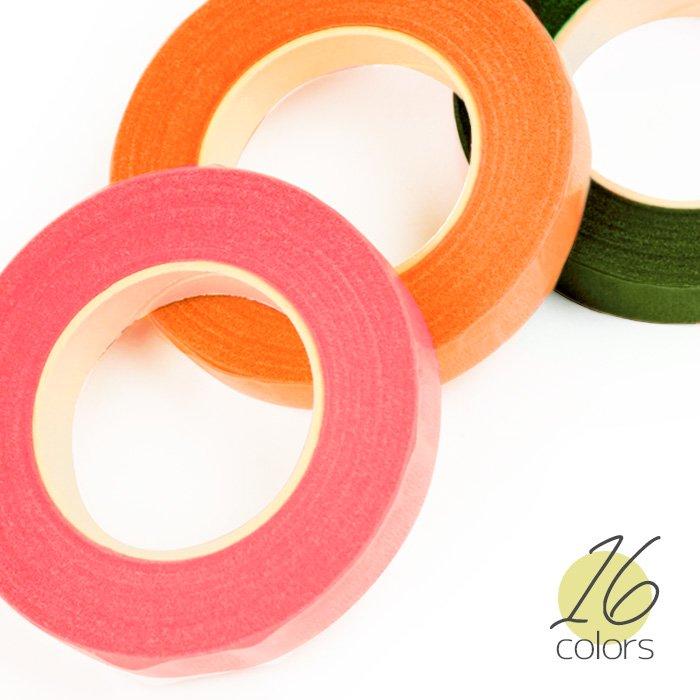 フローラテープ 16色 フラワーアレンジメント クラフト資材 フローラルテープ crft-floratape 【メール便可】
