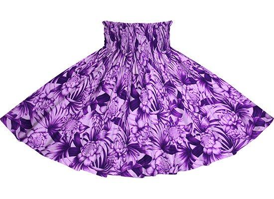 【蔵出し】 紫のパウスカート トーチジンジャー・ヤシ柄 spau-2746PP