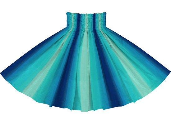 【パネル切り替えパウスカート】ヒスイ色と青のグラデーション柄 4枚はぎ pnpau-rm-2270JDBL 75cm 4本ゴム【既製品】