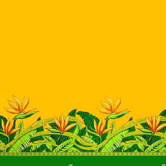 【カット生地】(1.5ヤード) 黄色のハワイアンファブリック バードオブパラダイス柄 fab-1.5y-2726YW 【4yまでメール便可】