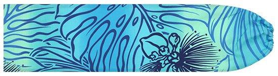水色のパウスカートケース レフア・モンステラ・グラデーション柄 pcase-2624AQ 【メール便可】★既製品 Sサイズ