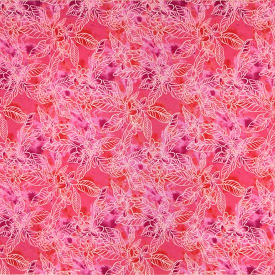 【カット生地】(3.5ヤード) ピンクのハワイアンファブリック プルメリア柄 fab-3.5y-2733Pi 【4yまでメール便可】