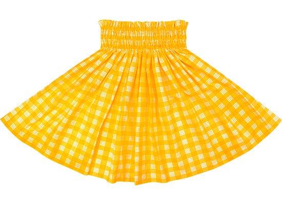 【ケイキ(子供)用】 黄色のパウスカート パラカ柄 kpau-2028YW 52cm 3本ゴム【既製品】
