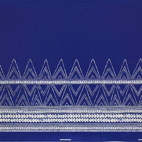 青のハワイアンファブリック カヒコ・タパ柄 fab-2837BL 【4yまでメール便可】