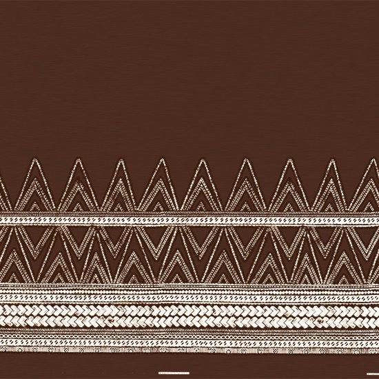 茶色のハワイアンファブリック カヒコ・タパ柄 fab-2837BR 【4yまでメール便可】