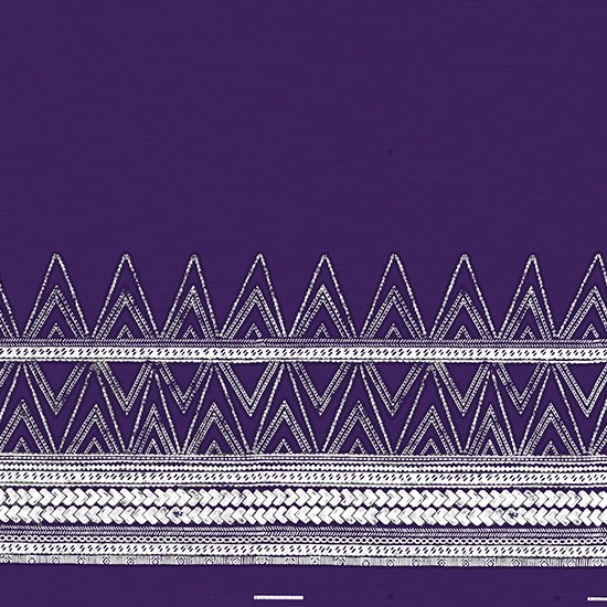 紫のハワイアンファブリック カヒコ・タパ柄 fab-2837PP 【4yまでメール便可】