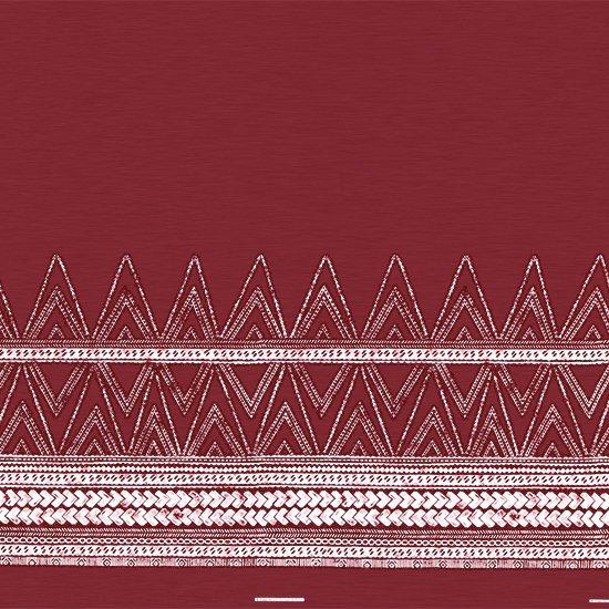 赤のハワイアンファブリック カヒコ・タパ柄 fab-2837RD 【4yまでメール便可】