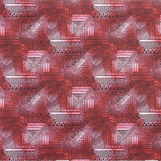 ピンクのハワイアンファブリック タパ・グラデーション柄 fab-2838Pi 【4yまでメール便可】